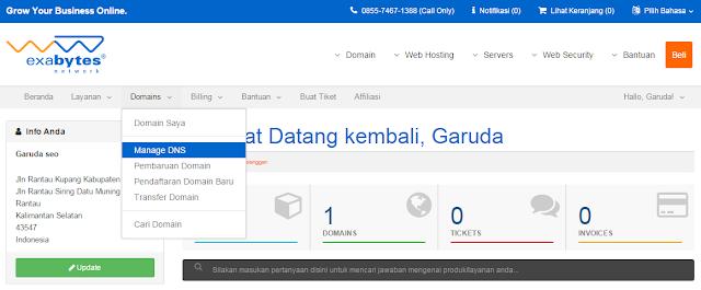 Cara mengganti domain blogspot.com dengan nama sendiri (Exabytes)