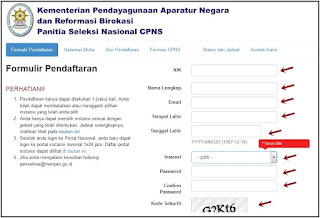 Cara Mendaftar Cpns Cara Pendaftaran Cpns Online