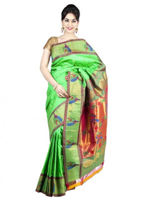 India-paithani-saree-designs-maharashtrian-blouse-patterns-8