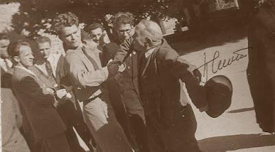 II Campeonato Mundial Universitario de Ajedrez Lyon 1955, Spassky boxeando contra Lajos Asztalos