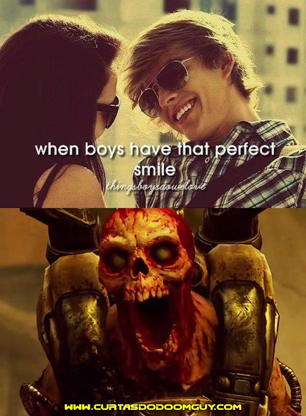 Quando os garotos tem aquele sorriso perfeito