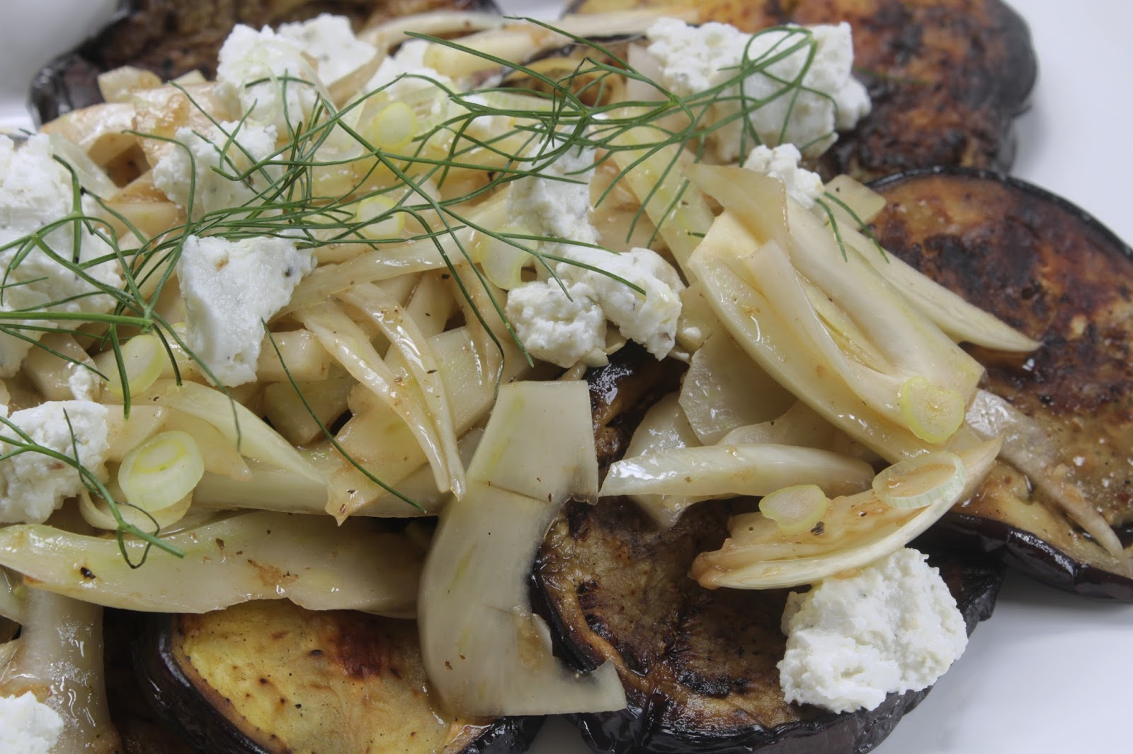 Eggplant and Fennel Salad with goat cheese