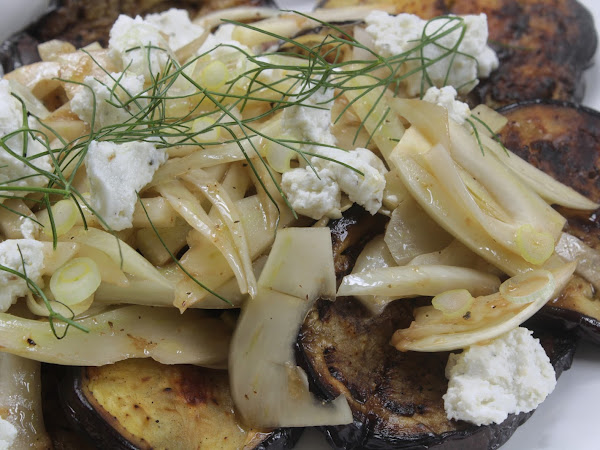 Trying new things leads to deliciousness (Eggplant and Fennel Salad with Goat Cheese)