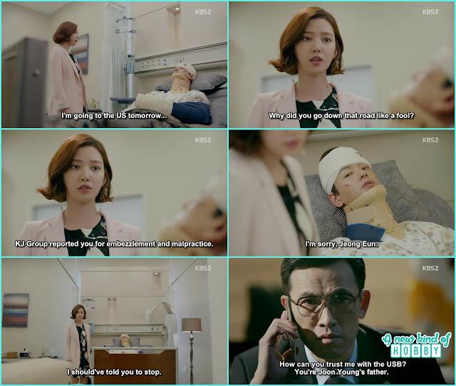 jeong eun came to meet ji taek at the hospital - Uncontrollably Fond - Episode 19 Review