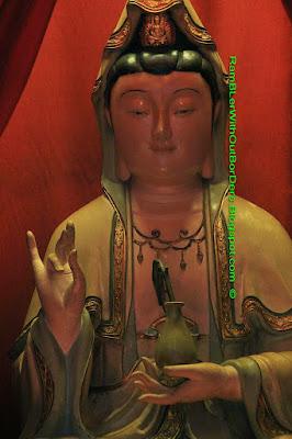 statue, Guanyin, Tin Hau Temple, Aberdeen, Hong Kong
