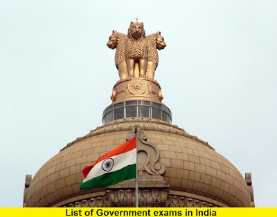 List of Government exams in India 2017 - 2018