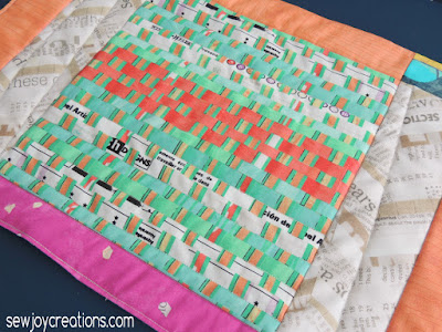 closeup of quilting on Bold Delight