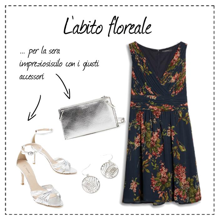 outfit elegante floreale