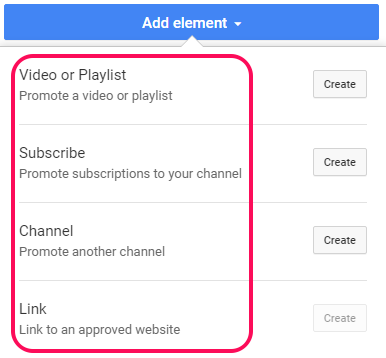 Youtube End Screen Elements