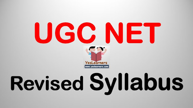 UGC NET - Revised Syllabus from 2019