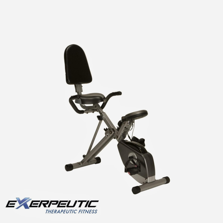 Exercise Bike Tall Person: Exercise Bike Zone: Exerpeutic 400XL Folding Recumbent