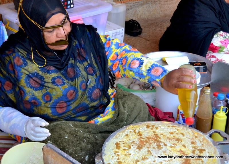 Dubai Cultural Tour: Traditional Emirati food at Dubai Heritiage Village