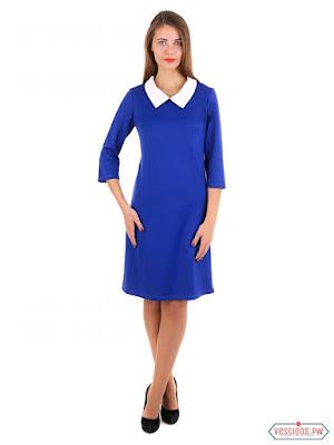Vestido azul sencillos
