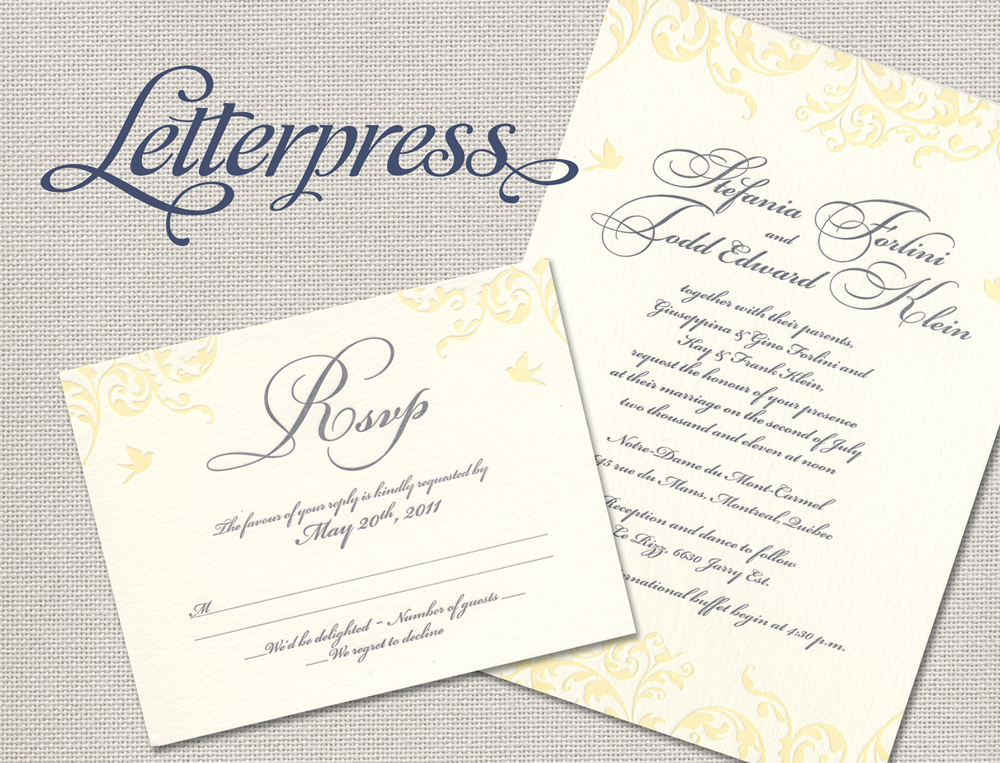 Wedding Invites Letterpress: It's All Polkadots!: Introducing Letterpress Invitations