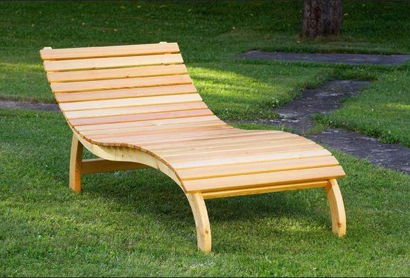 Sonnenliegen Holz