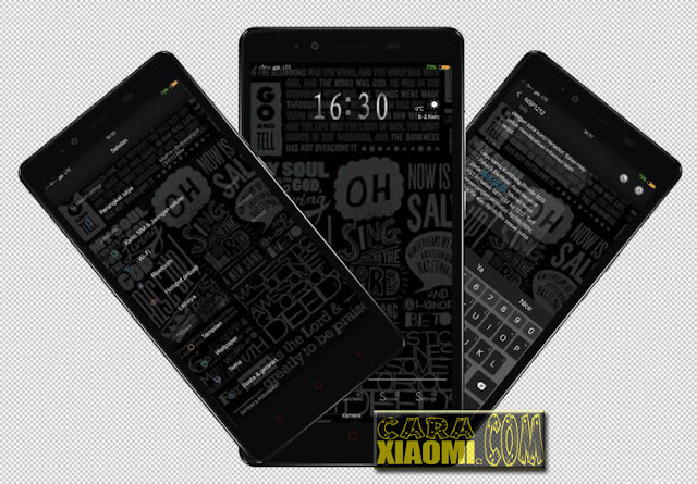 MIUI Theme Hitam is Black Mtz For Xiaomi New Release