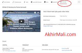 Cara Menghilangkan Copyright Video Youtube