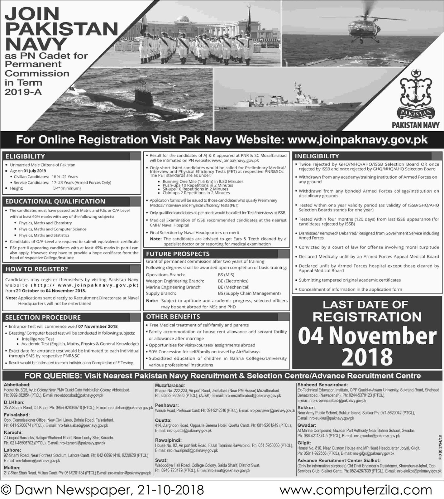 PN cadet for Permanent Commission at Pakistan Navy