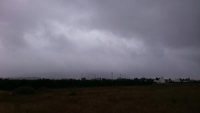 Från sol till regn och rusk.