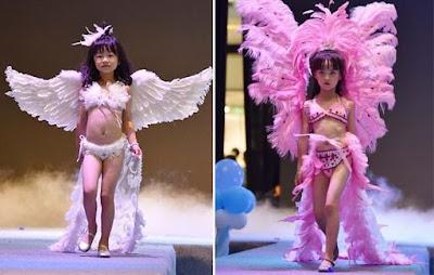 Niñas tan jóvenes como de 5 años toman parte del show de lencería estilo Victoria's Secret