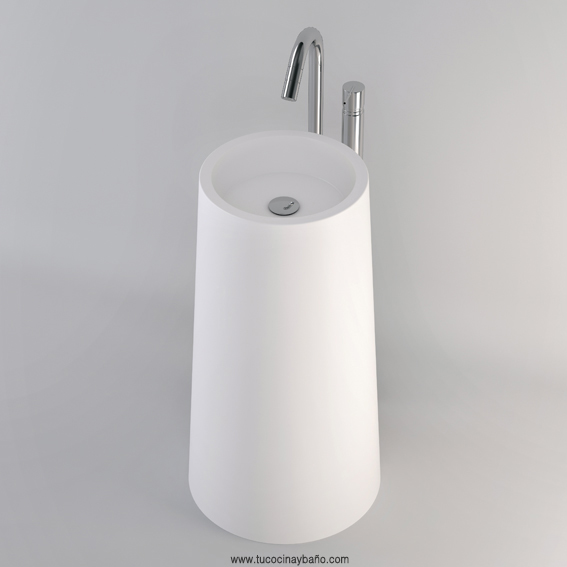 lavabo totem conico solid surface exento