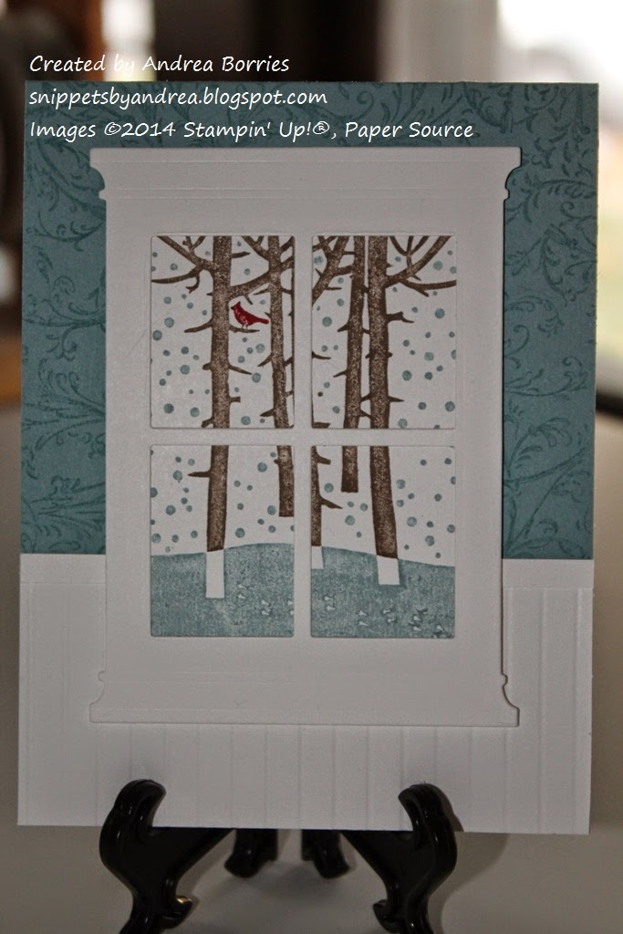 Snippets: Day 5: Winter window scene