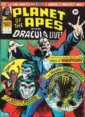 Planet of the Apes merges with Dracula Lives, Marvel Comics UK