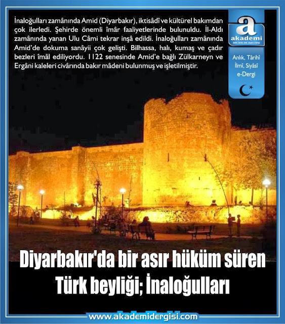 Diyarbakır'da bir Türk beyliği; İnaloğulları
