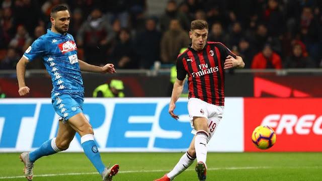 Hasil Coppa Italia: Dua Gol Piatek Loloskan Milan ke Semifinal