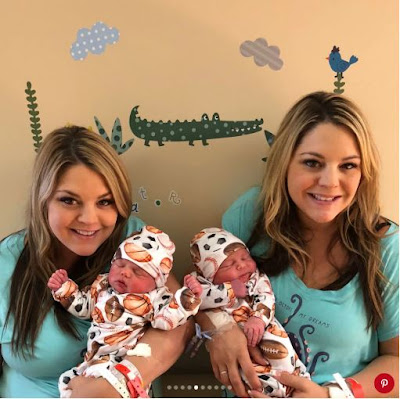 Story Of Twin Sisters Who Gave Birth Same Day, Same Hospital To Baby Boys (Photos)
