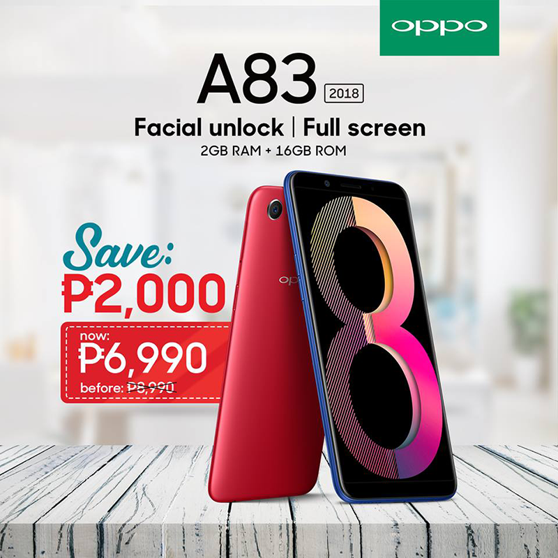 Sale Alert: OPPO A83 with 2GB RAM is now priced at just PHP