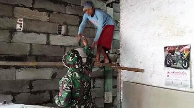 Saling Bantu, Kunci Cepatnya Rehab RTLH di Lokasi TMMD