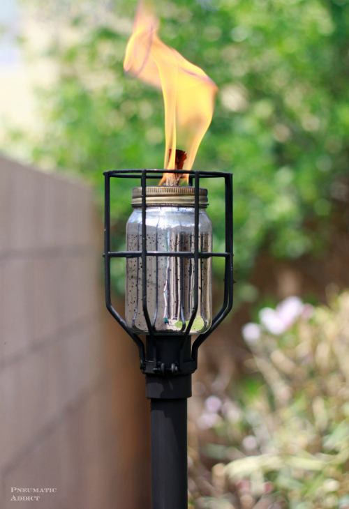 How to make an industrial style tiki torch