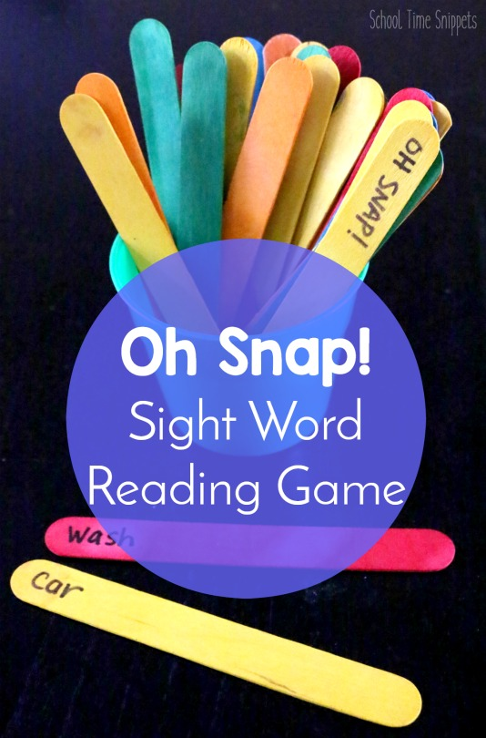 Oh Snap Sight Word Game To Improve Reading Skills