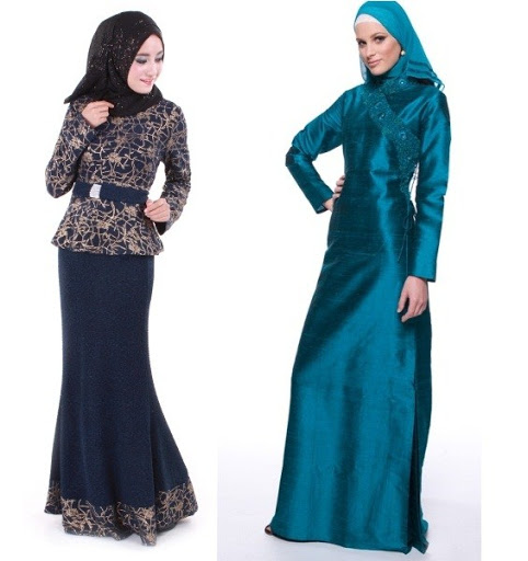 dress muslim pesta terbaru 2017/2018