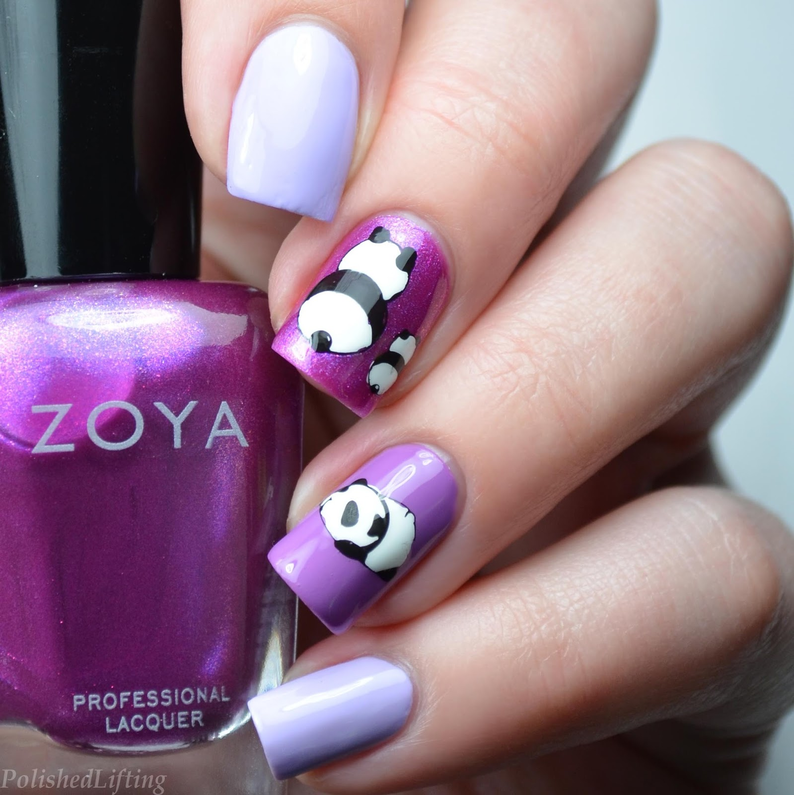 Polished lifting baby panda nail art featuring harunouta and zoya panda nail art prinsesfo Image collections
