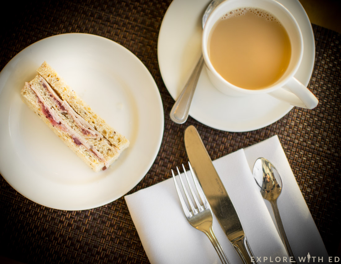 Finger sandwiches and tea, Razzi Restaurant
