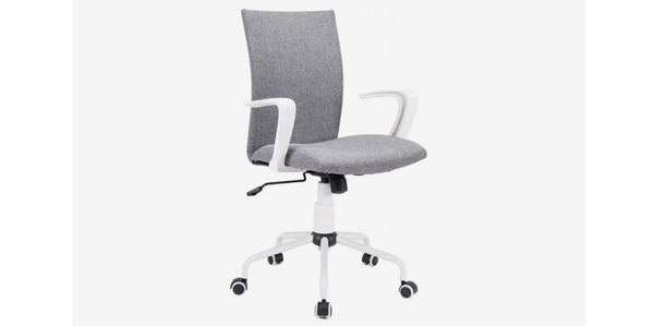 Review 15 Kursi Kantor Terbaik DJ Wang Grey Modern Office Chair