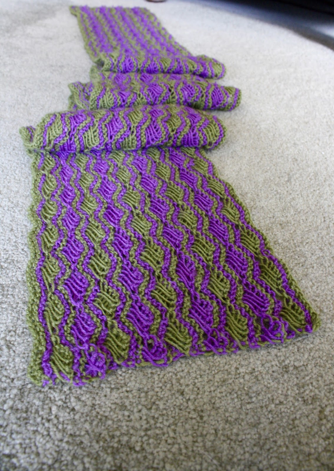 Cross Stitch Knitting Pattern Scarf : QueerJoes Knitting Blog: Selling Knitting Patterns