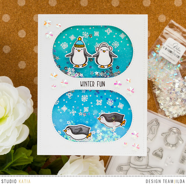 Winter Fun with Studio Katia's Ice Day Penguins by ilovedoingallthingscrafty.com