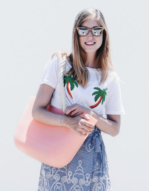 Camiseta palmeras Zara