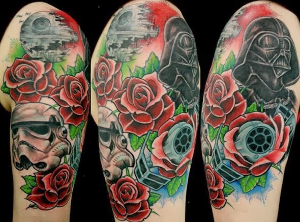 vader rose arm tattoo