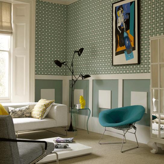 Walls: Wallpapering Around A Chair Rail
