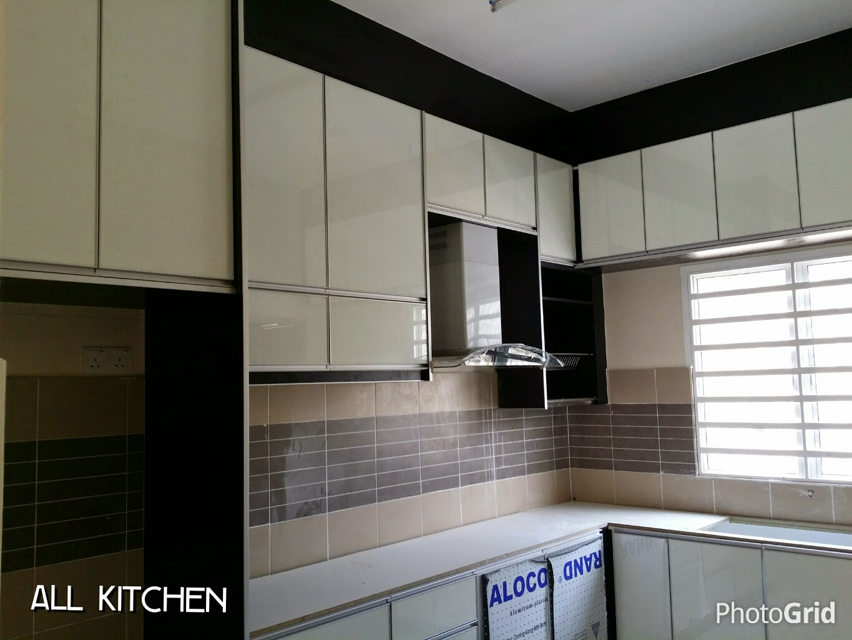 Kabinet Dapur 4d Desainrumahid Tinggi Gloss Datar 4g Kaca Pintu