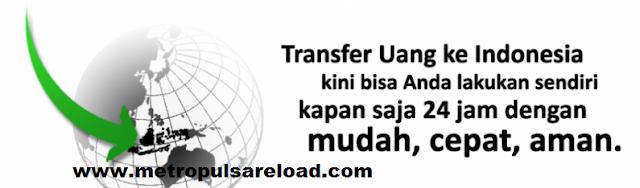 Cara Mudah dan Cepat Transfer Uang Ke Bank BRI, BNI, BCA, MANDIRI Dengan Saldo Pulsa di Metro Pulsa Reload