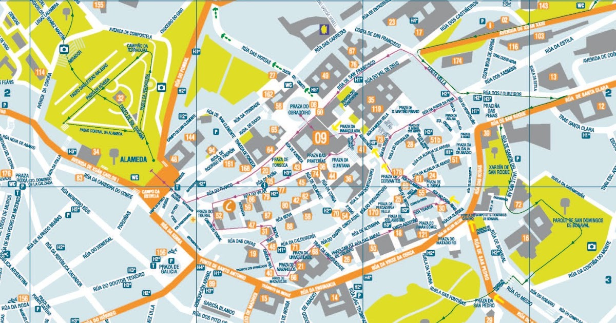 Santiago De Compostela Mapa De Santiago