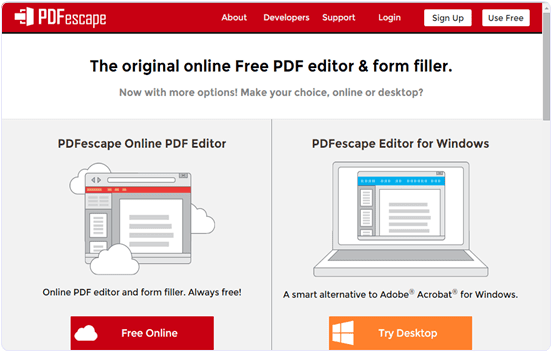 pdfescape.com How To Edit Text In PDF File Online Free