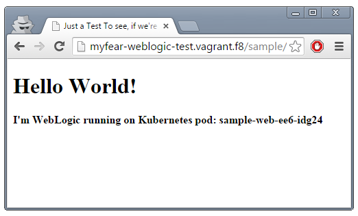 WebLogic Server 12 1 3 on Kubernetes | Planet JBoss Developer