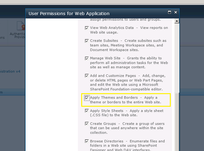 web application user permissions