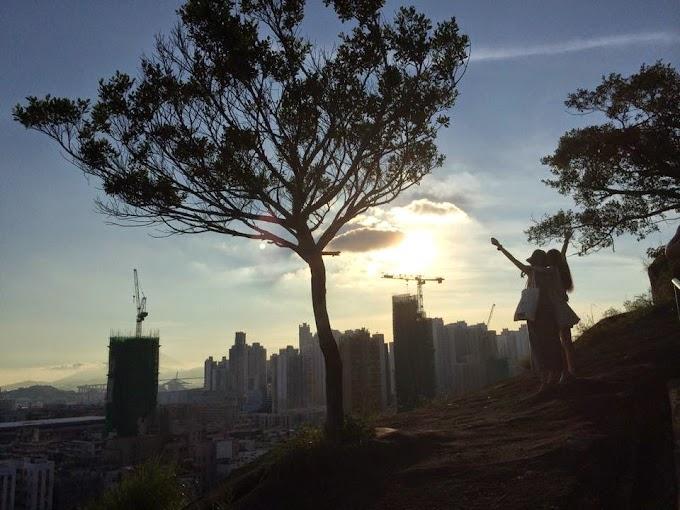 【城中遊】俯瞰繁榮街角 登上嘉頓山賞夕陽
